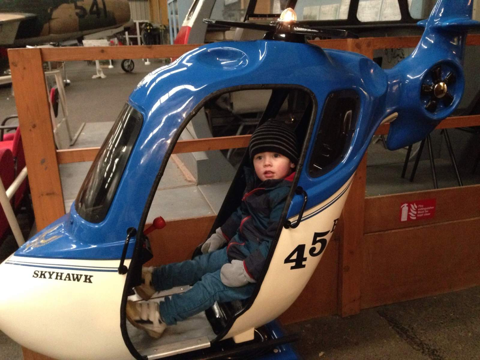 sunderland air museum day out with a toddler helicopter ride