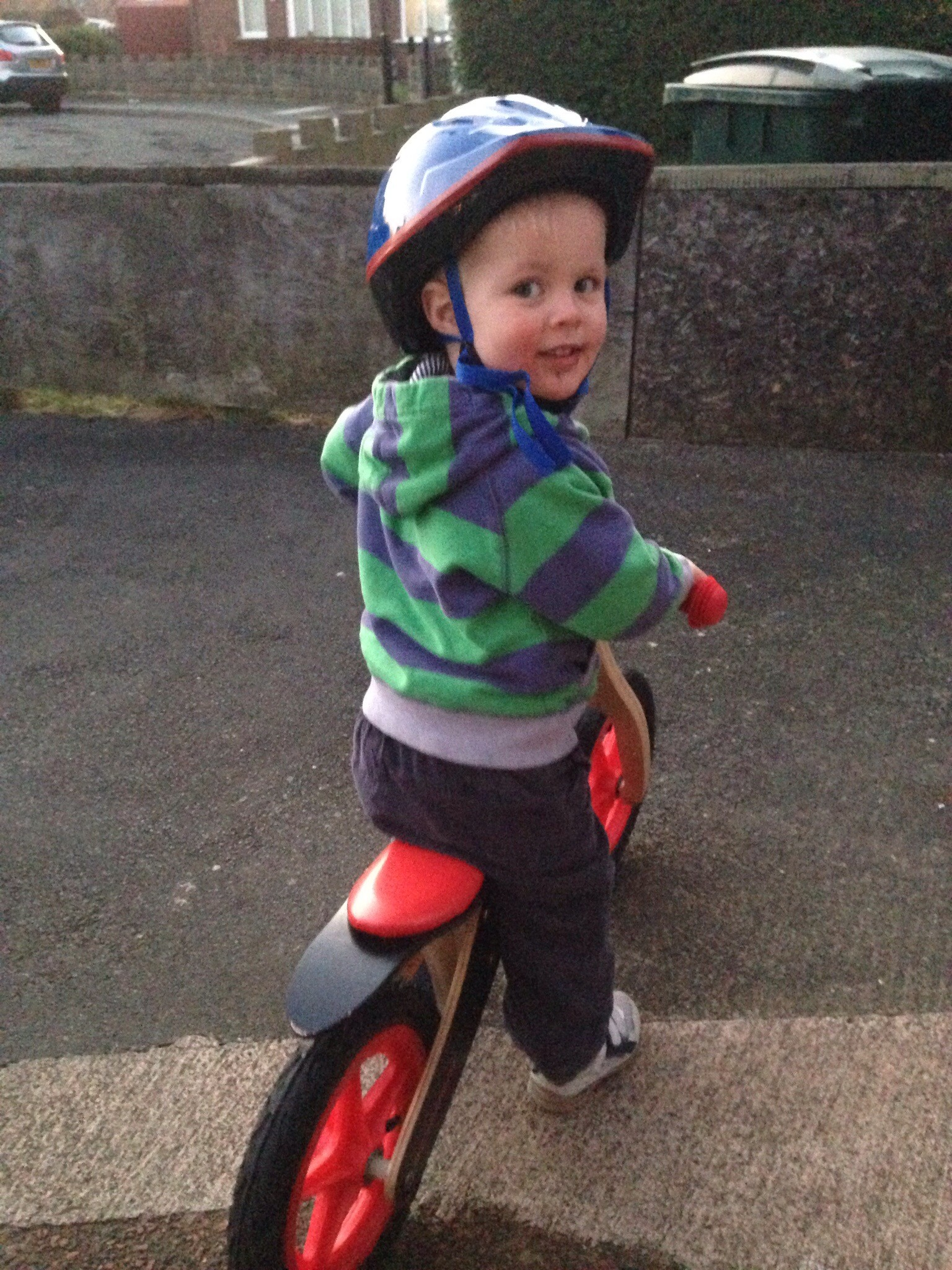 James and his balance bike