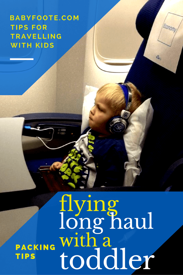 Tips on what to pack to keep a toddler entertained on a flight. Uses things you will be able to use again, and can buy cheaply - no need to be a crafty mama!