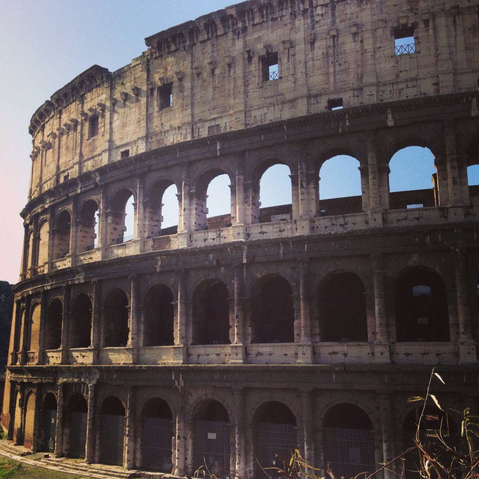 rome with a toddler colosseum