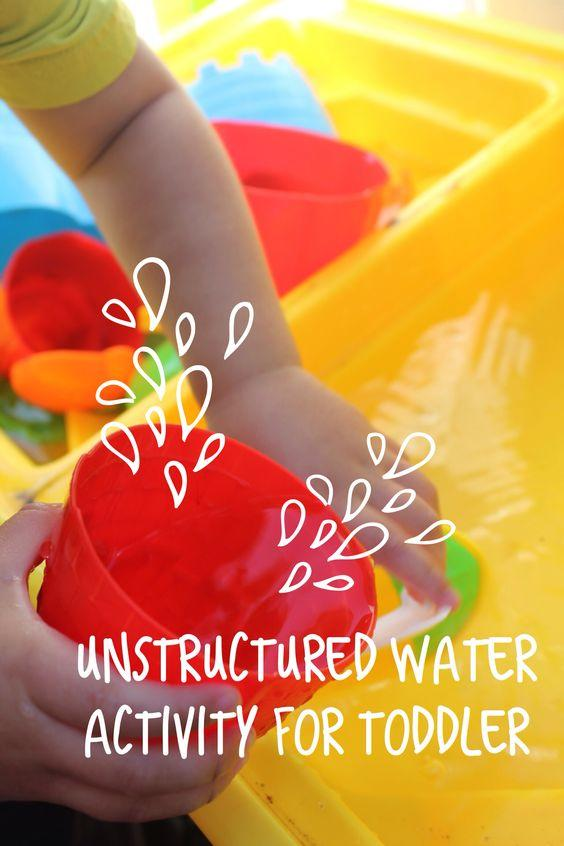 Unstructured Water Play for Toddlers