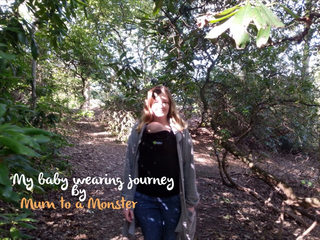 My baby wearing journey – guest post by Mum to a Monster