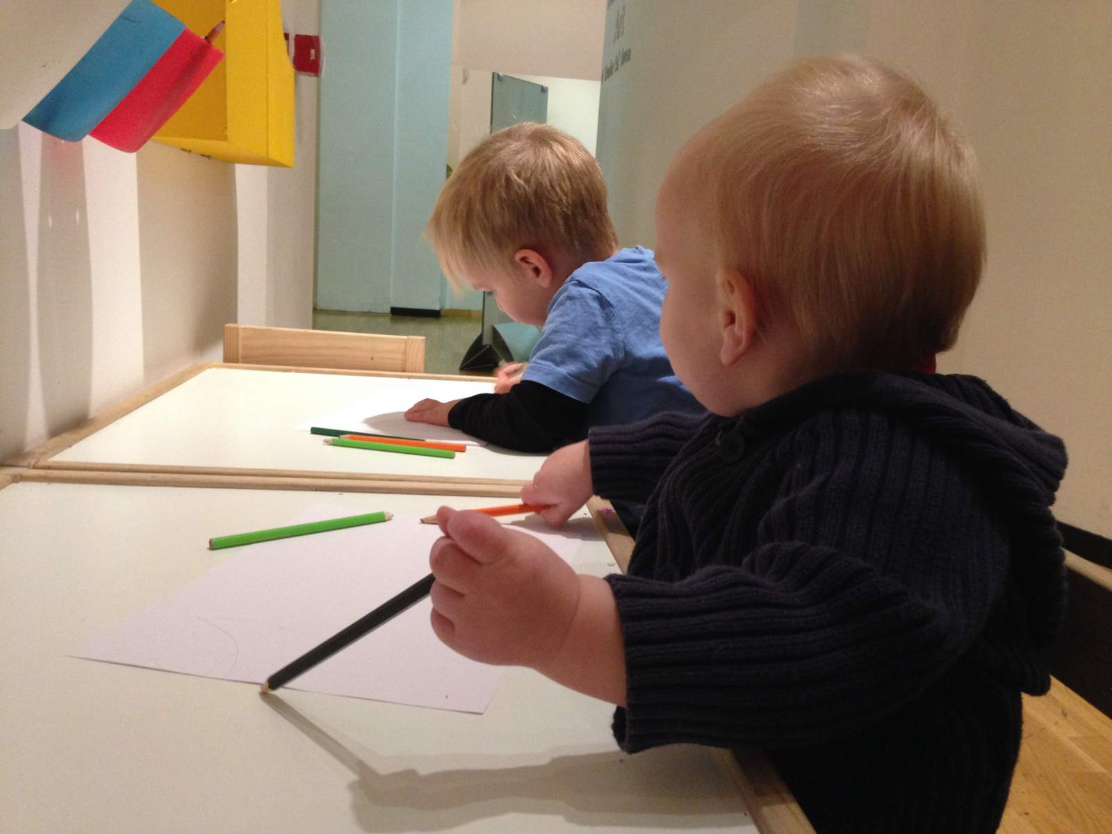 artists hard at work in the Laing Art Gallery in Newcastle upon Tyne