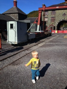 The national slate museum in wales is a fantastic places for a day out with a toddler