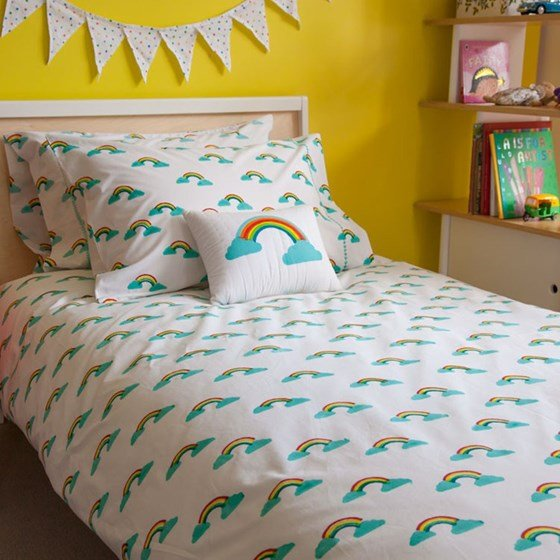 This rainbow duvet cover is perfect for a weather themed child's bedroom