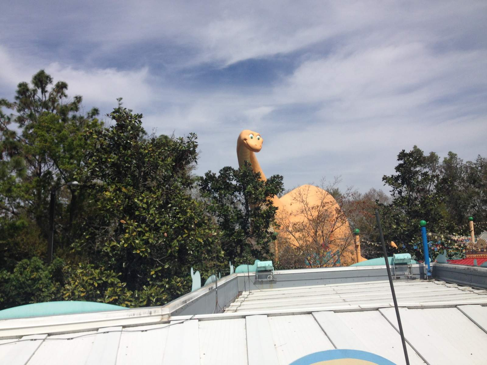 dino land at disney's animal kingdom with a toddler
