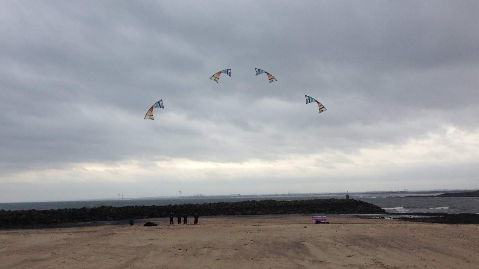 fusion stunt kites at newbiggin 5th annual kite festival