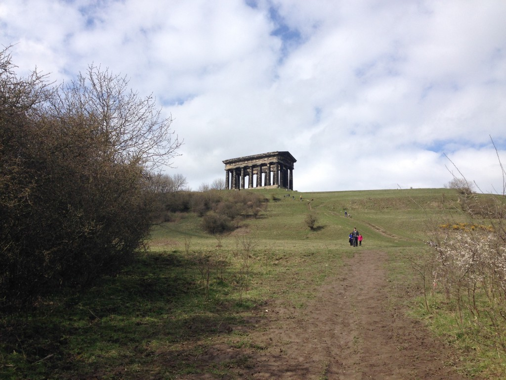Day out with toddler at Penshaw monument in Sunderland