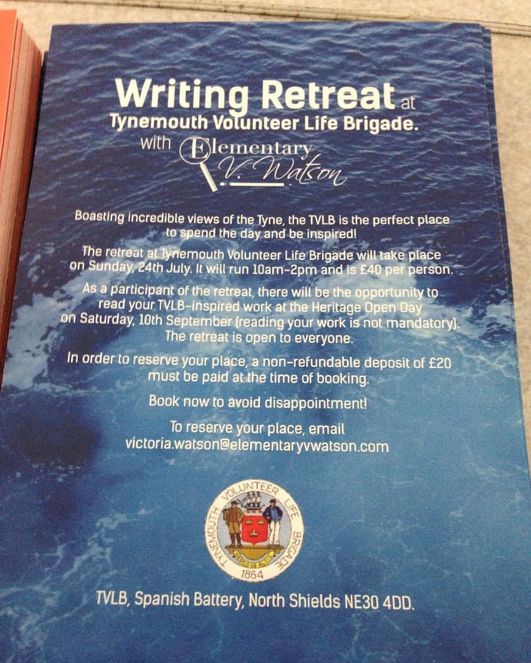 creative writing retreat at tvlb watch house
