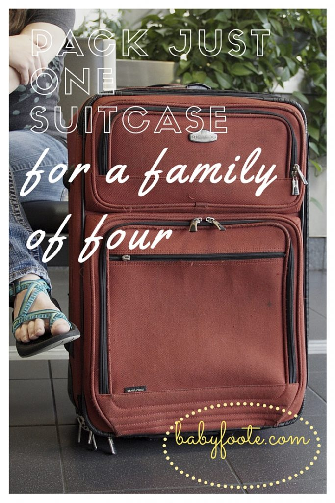 For the past few trips away with our boys we have taken just one suitcase for the whole family. It's worked really well, and we've still come home with clothes that we haven't worn! Here are my tips for packing light on vacation with kids