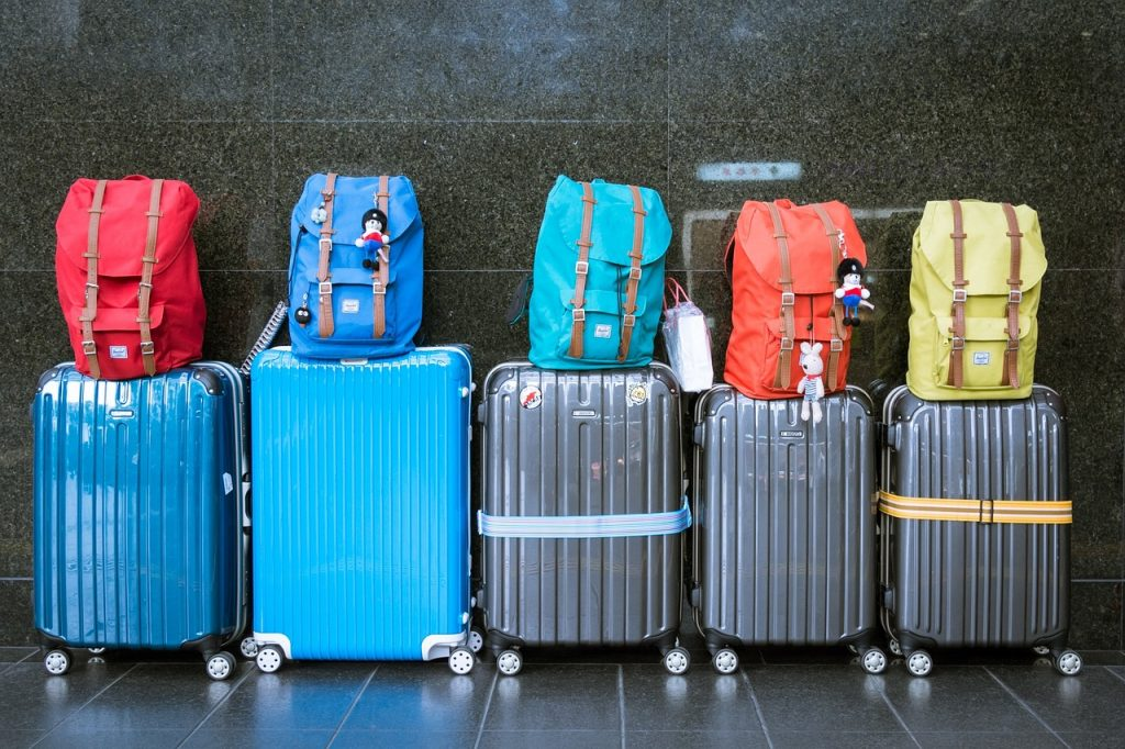 One suitcase, four people, no problem