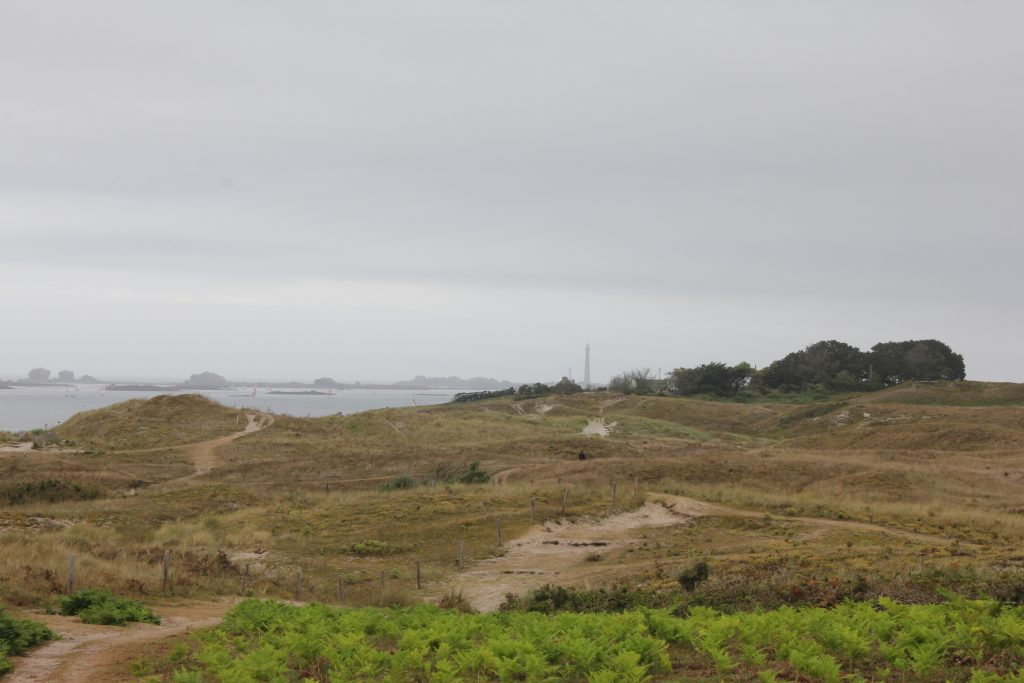 dunes sainte marguerite in northern finistere in brittany