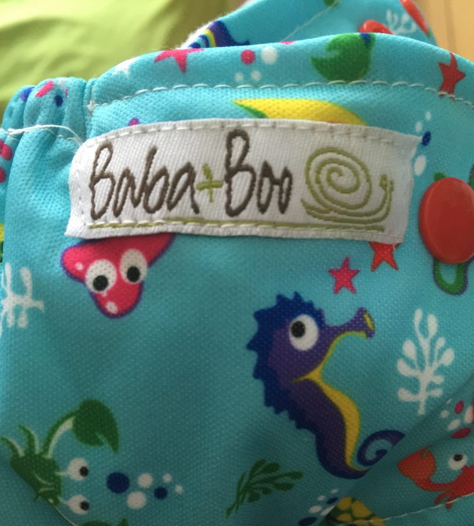 Baba and boo reusable nappy deep sea print
