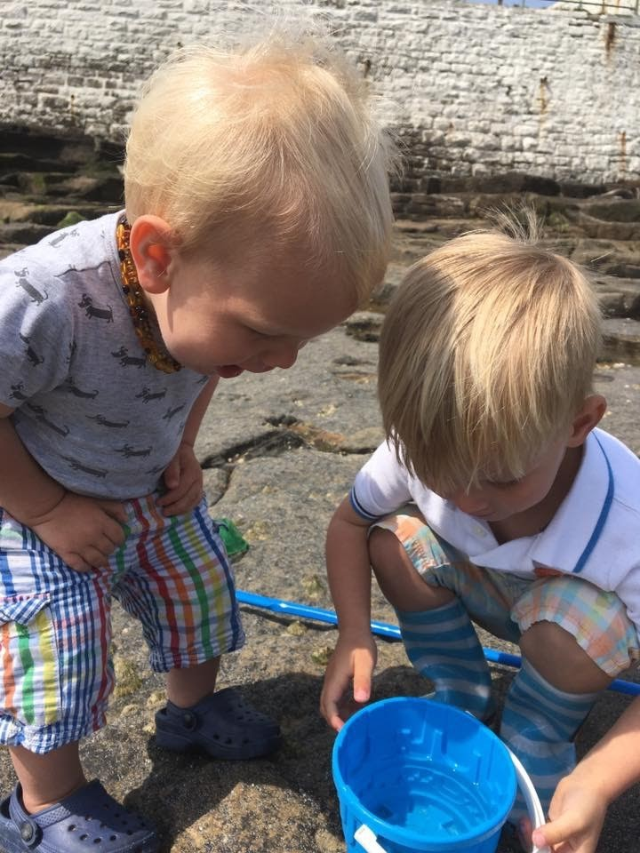 rock pool exploration for little kids is such good fun and educational
