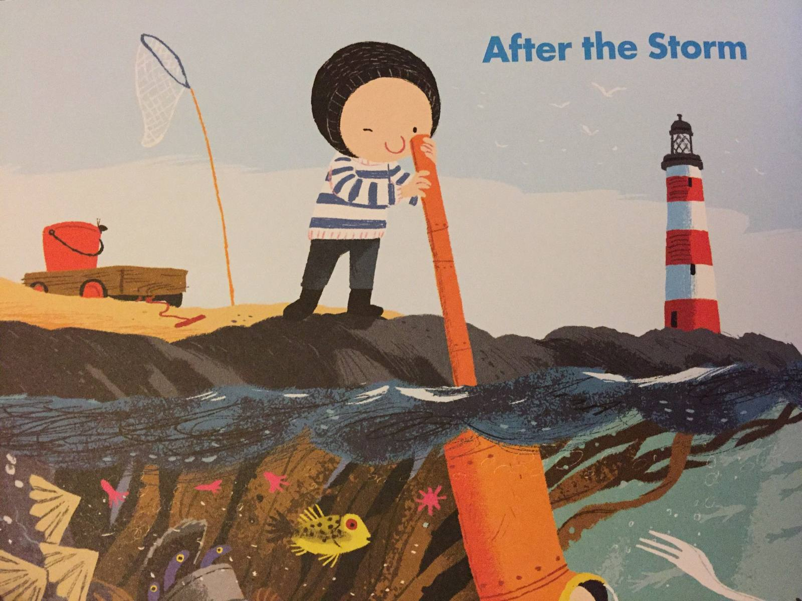 Noi from The Storm Whale featured in Okido Children's Magazine issue on water
