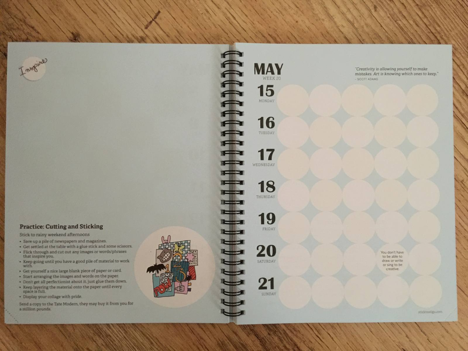 stick to stigu planner double page spread week to view calendar planner