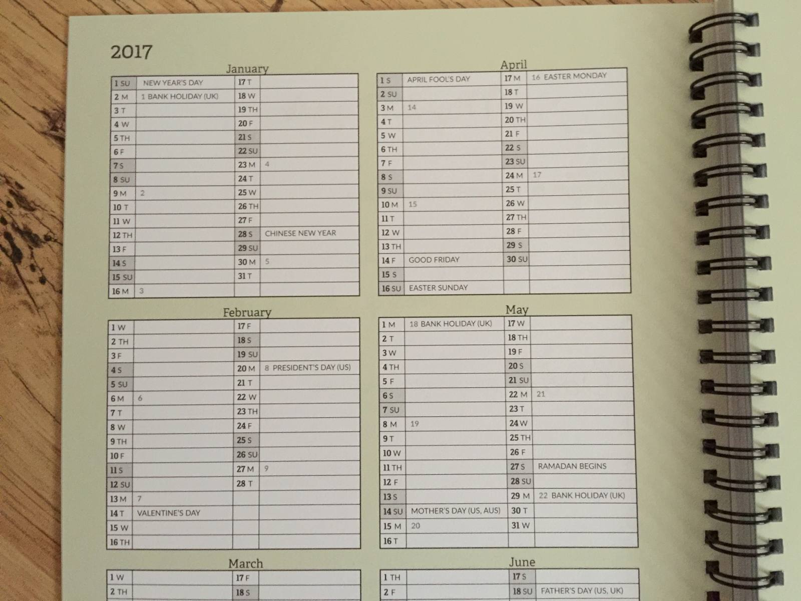 stick to stigu 2017 planner has rip off corners to find your place easily