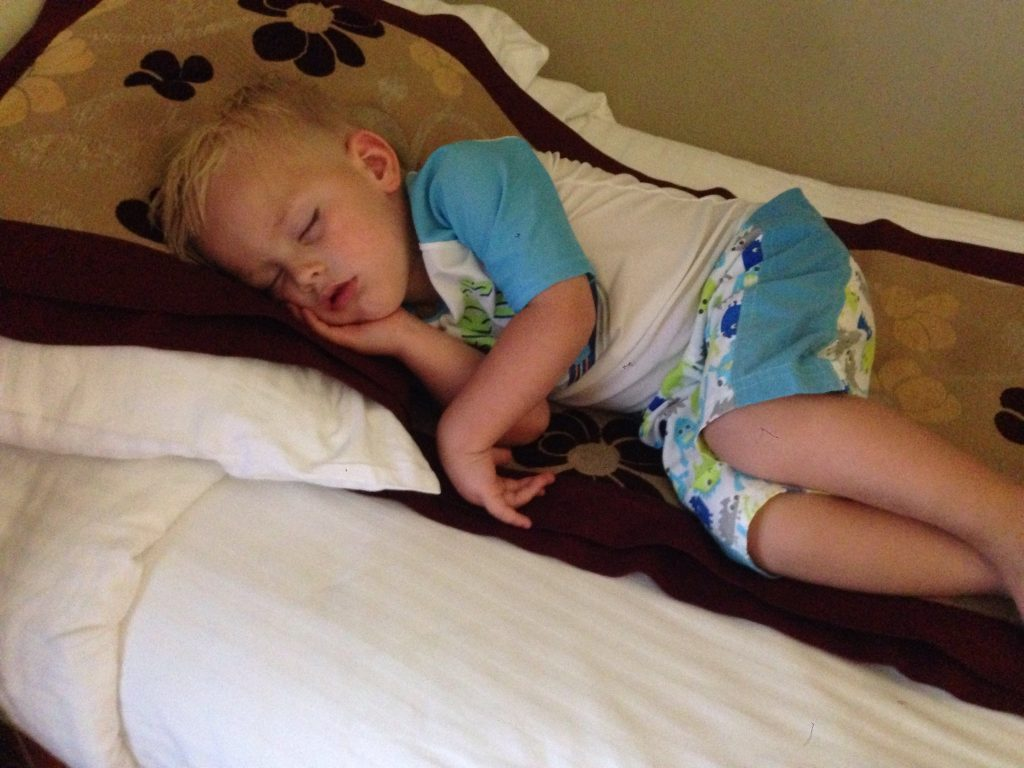 child asleep and dreaming