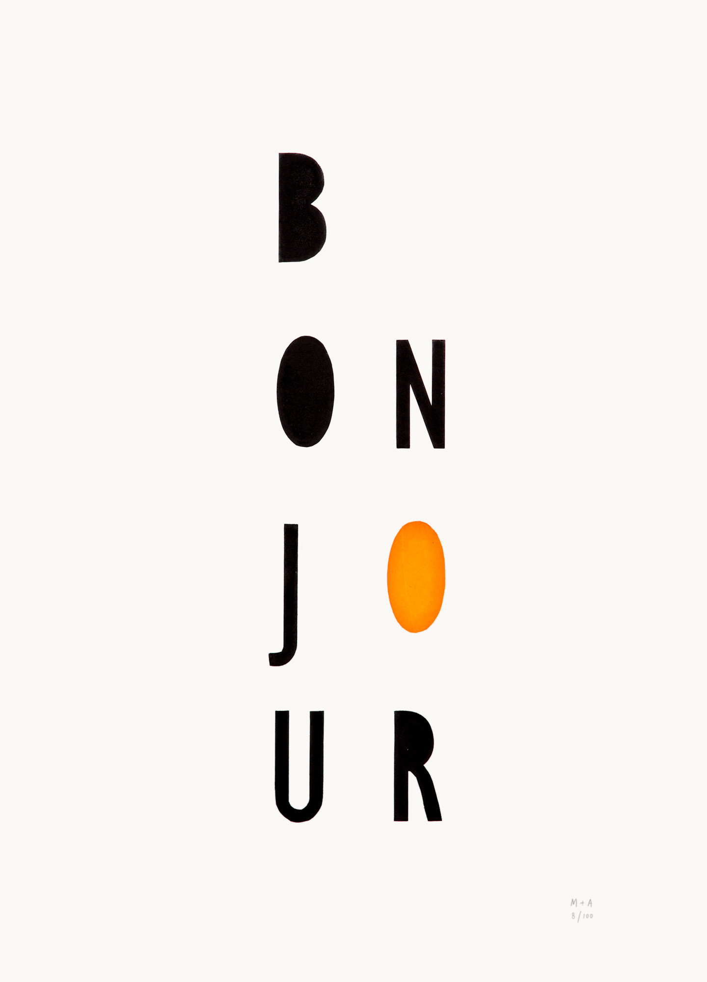 orange-bonjour-neon-geometric-limited-edition-screen-print-on-paper