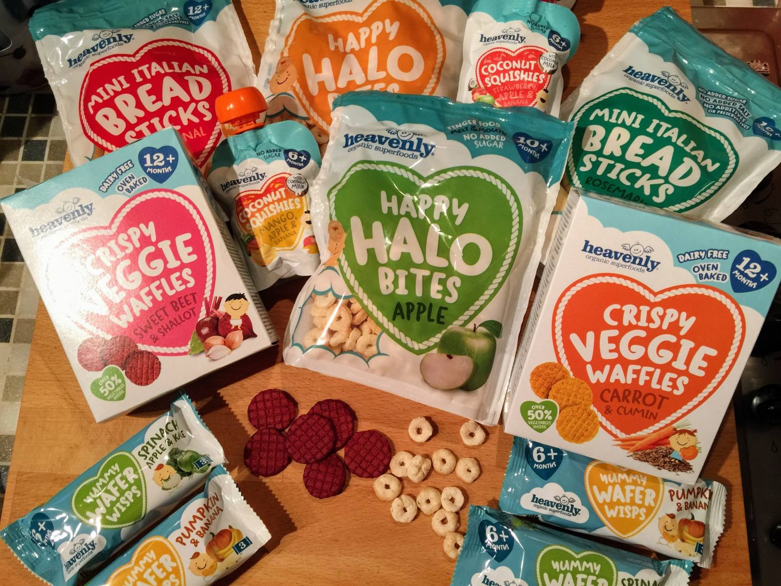 heavenly tasty organics snack toddler range