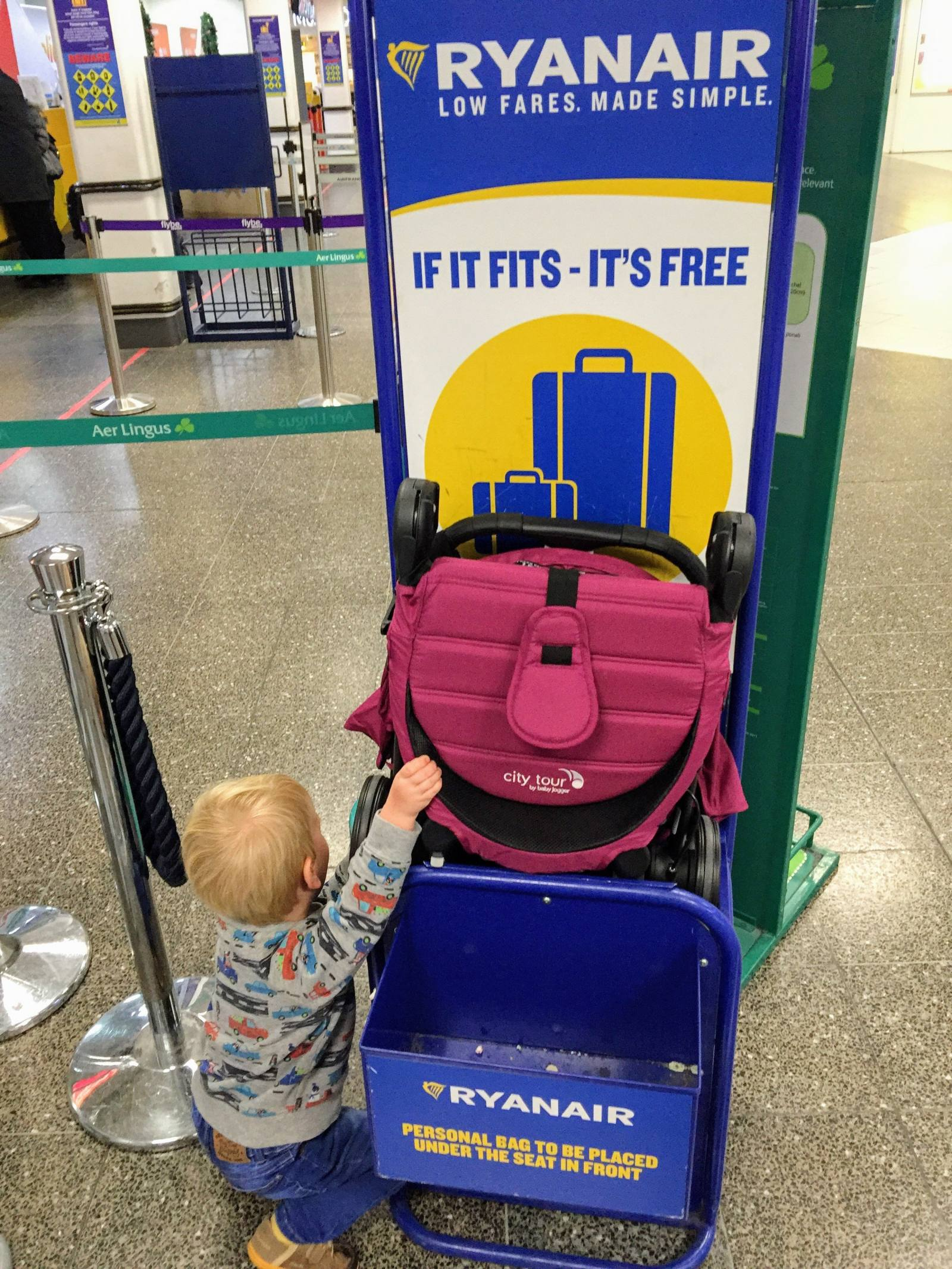 baby jogger city tour hand luggage ryanair flight