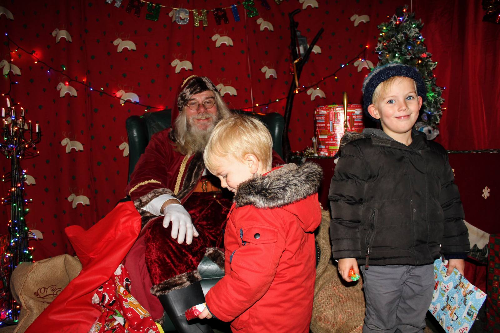 meeting traditional santa at whitehouse farm