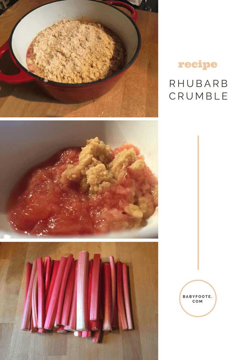 Recipe rhubarb crumble