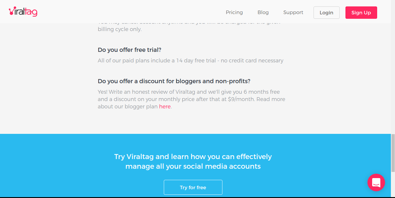 viraltag 6 months free for bloggers