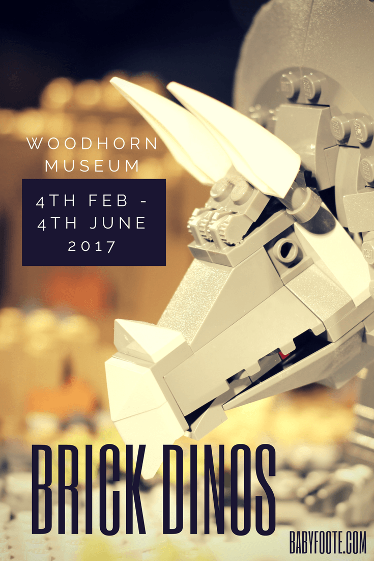 Brick Dinos at Woodhorn Museum – a temporary exhibition until 4th June