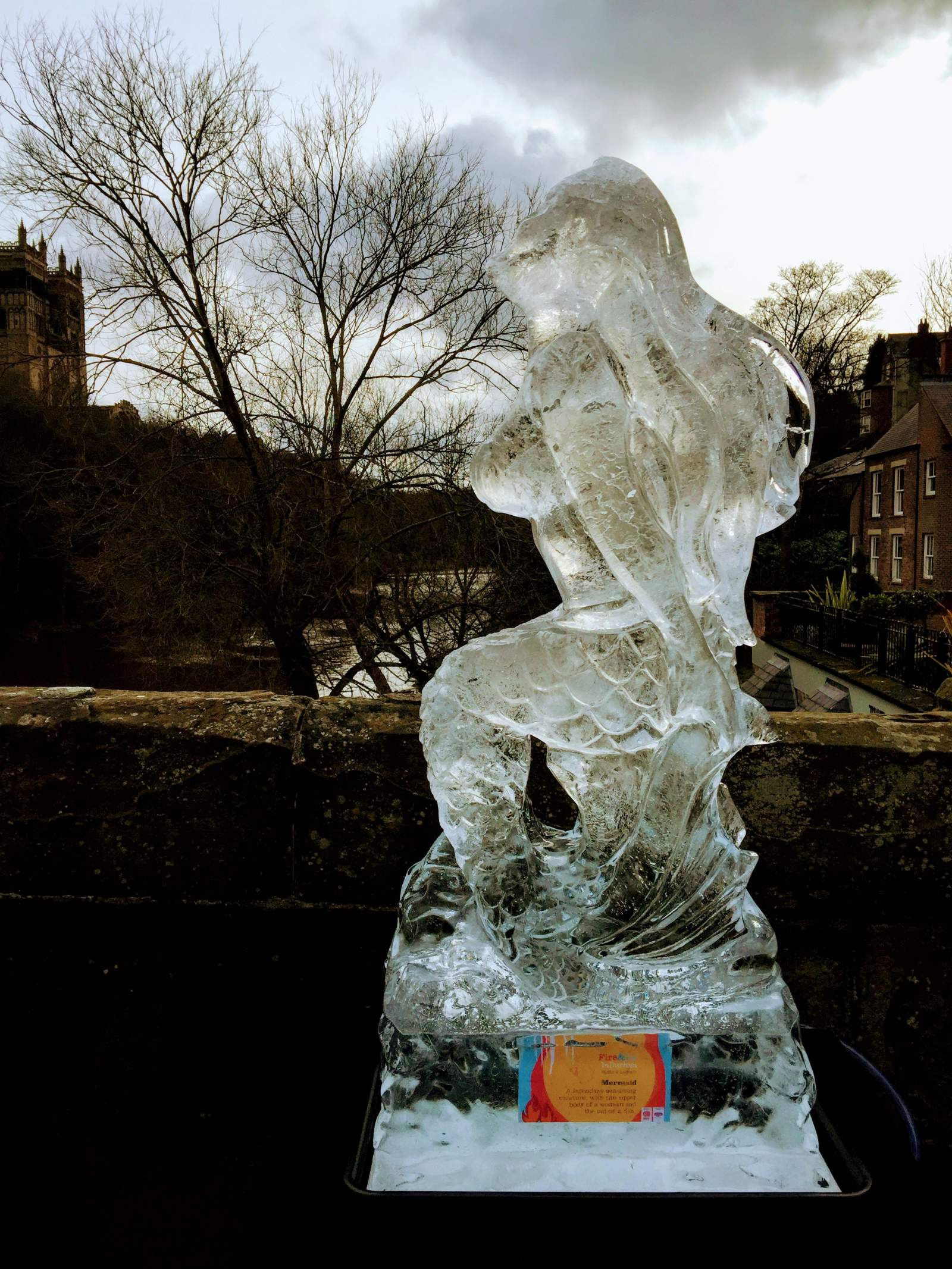 mermaid ice sculpture durham fire and ice 2017