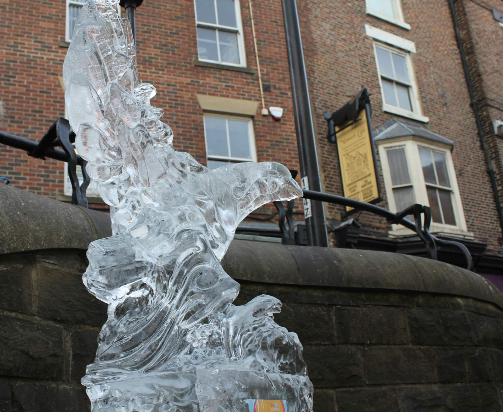 durham fire and ice competition winner ice sculpture