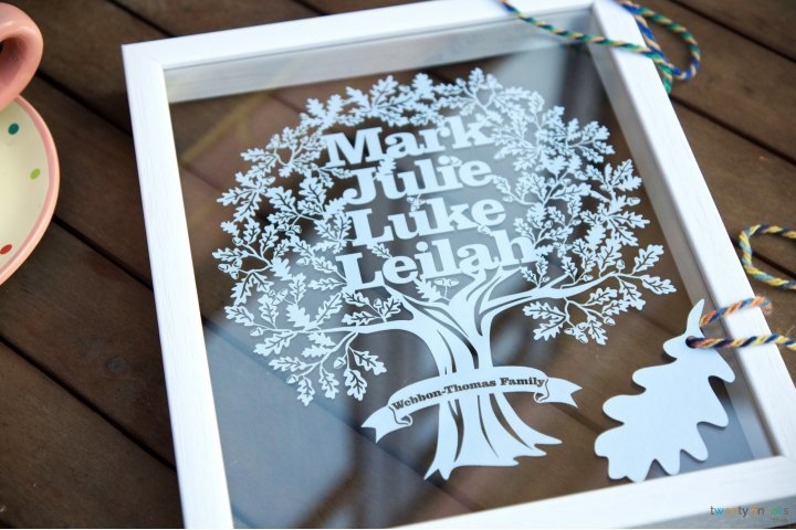Win a personalised papercut by Twenty Fingers