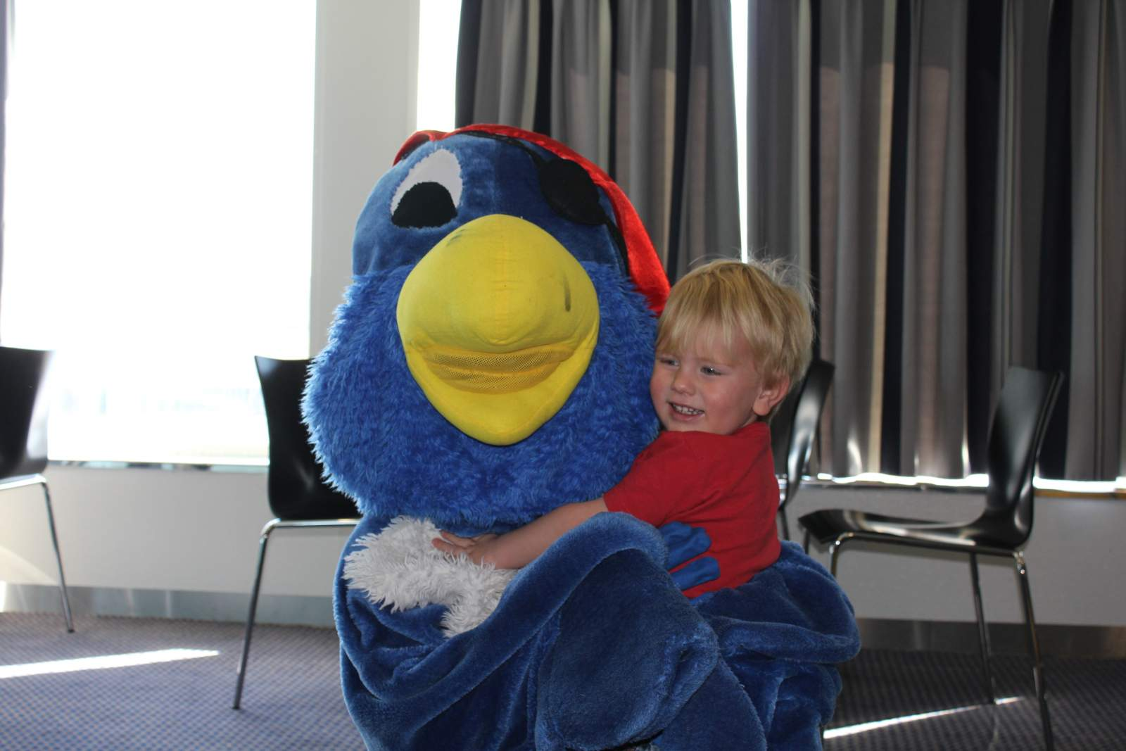 boy with DFDS seaways mascot