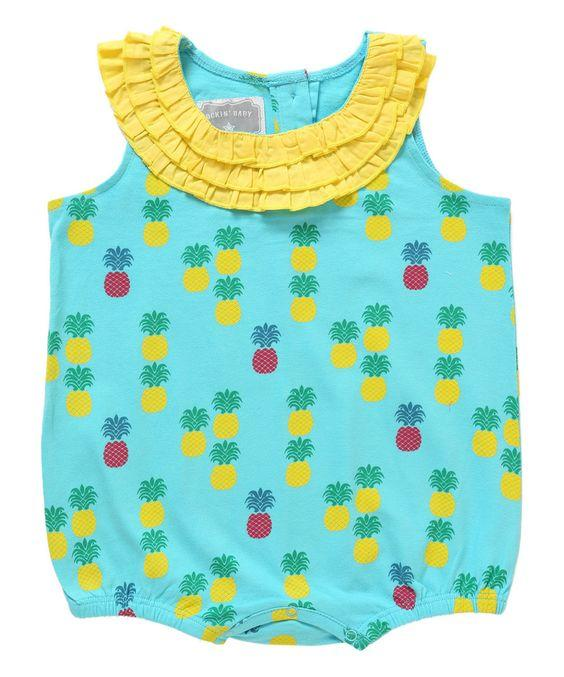 rockinbaby romper pineapple print summer