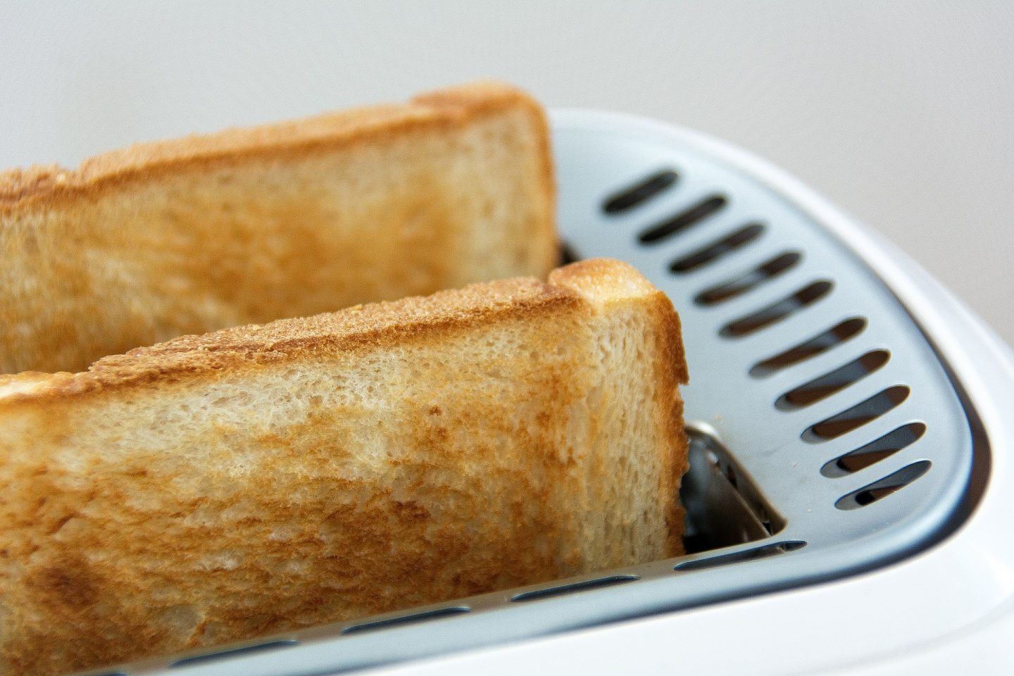 toast just popped from the toaster