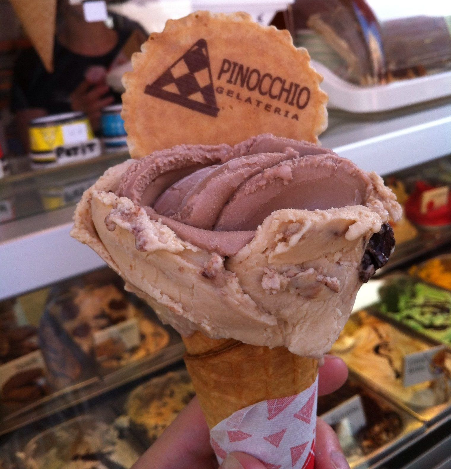 pinocchio ice cream shaped like a flower in nice, france