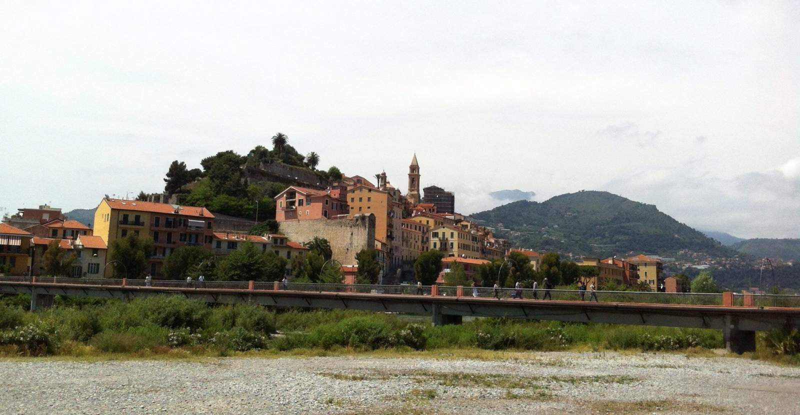 ventimiglia in liguria, italy, is easily driven to for a day out from france