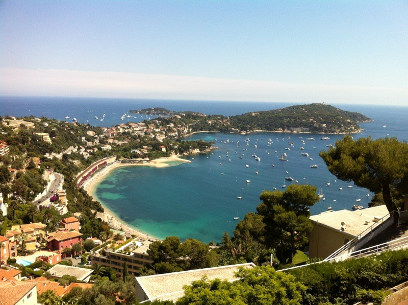view of the port de nice from villa in villefranche sur mer
