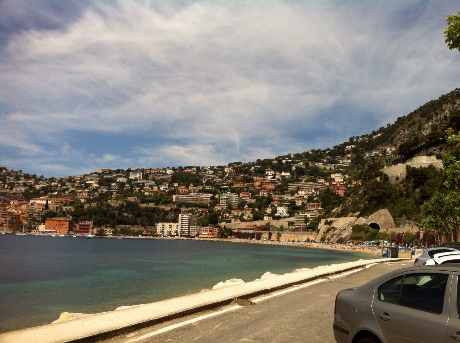 villefranche sur mer south of france day trip from nice beach and view of town
