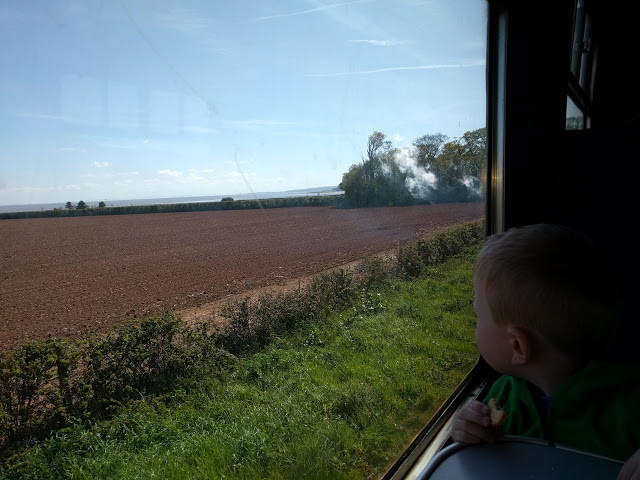 west somerset railway from minehead with a toddler day out entertaining elliot