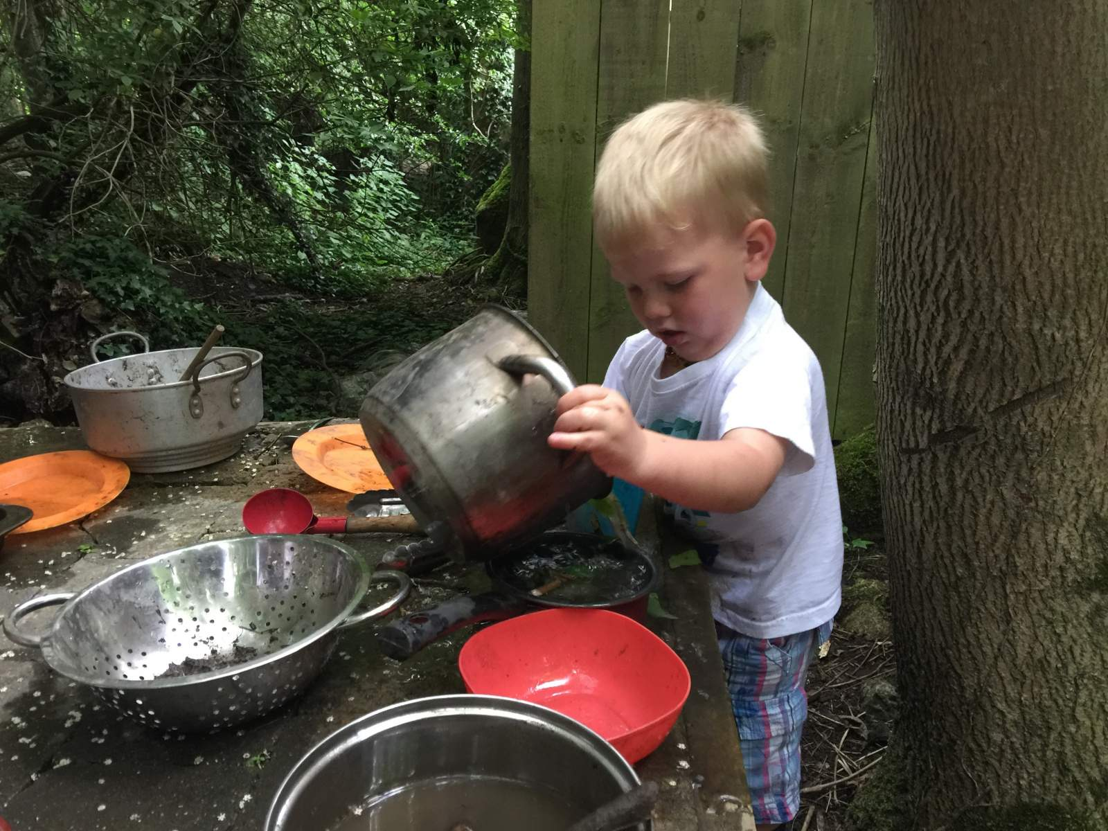 footprints on the moon forest school near newcastle mud kitchen fun preschool toddlers