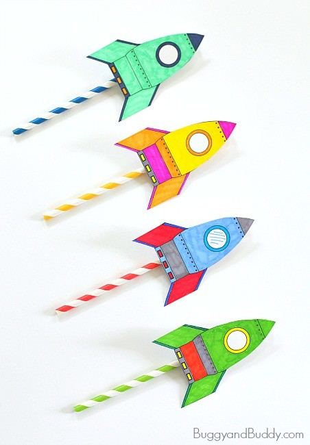 buggy buddy straw rocket rainy day activity