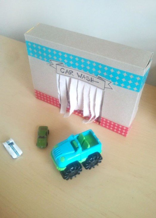 kidsomania diy car wash toilet roll kids activity