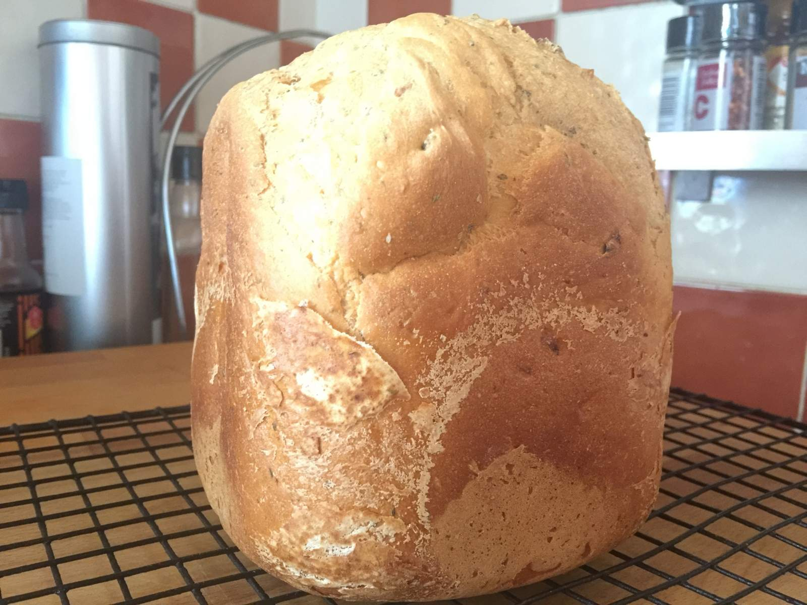 sundried tomato bread supermarket packet breadmaker loaf