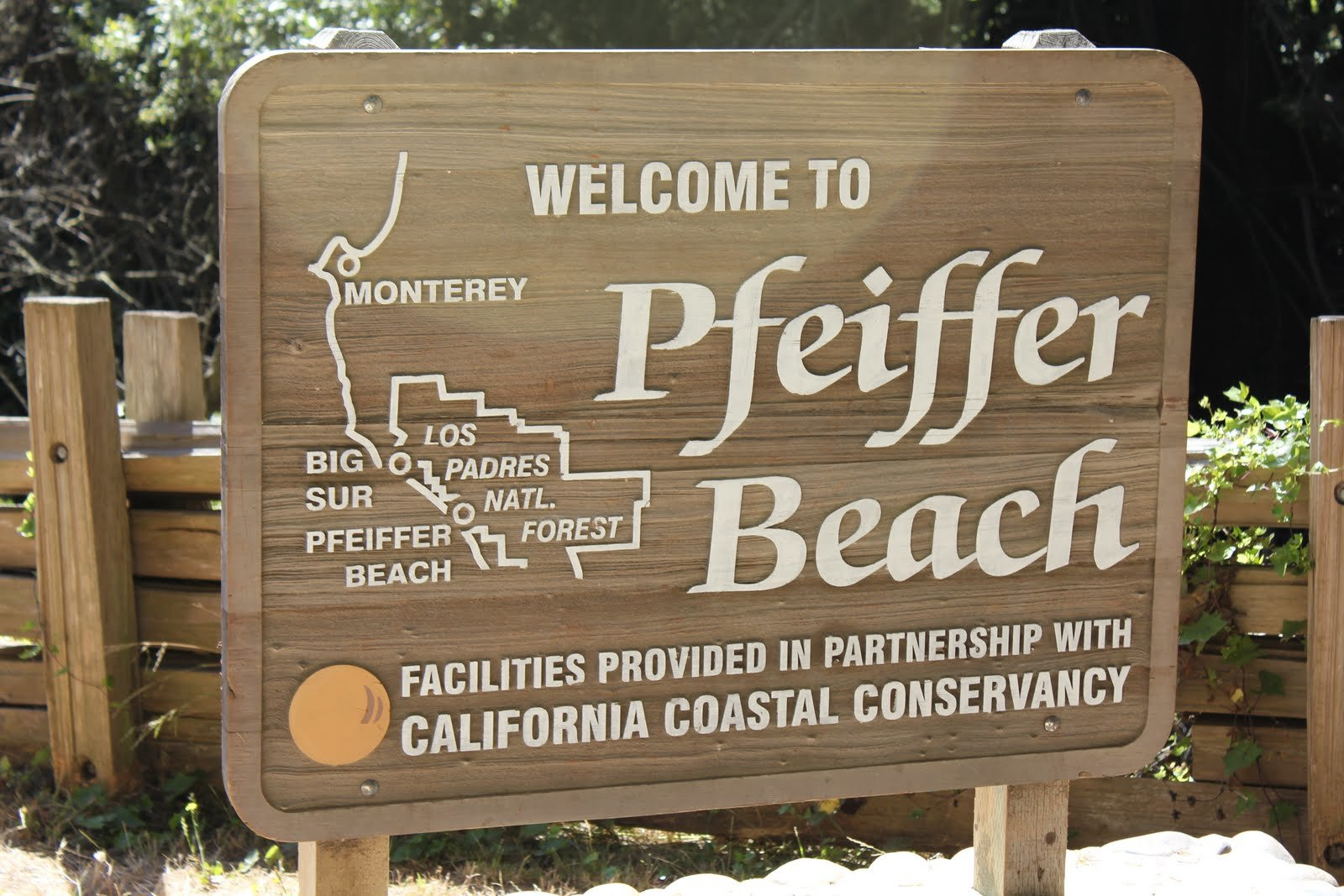 pfeiffer beach sign pacific coast highway road trip