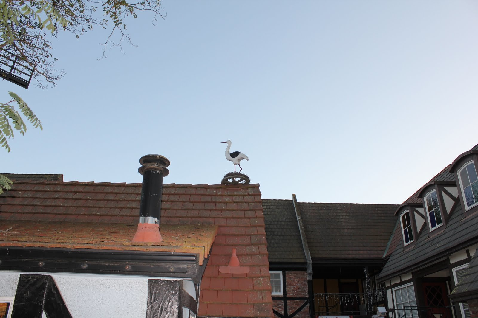 storks on the rooftops in solvang california
