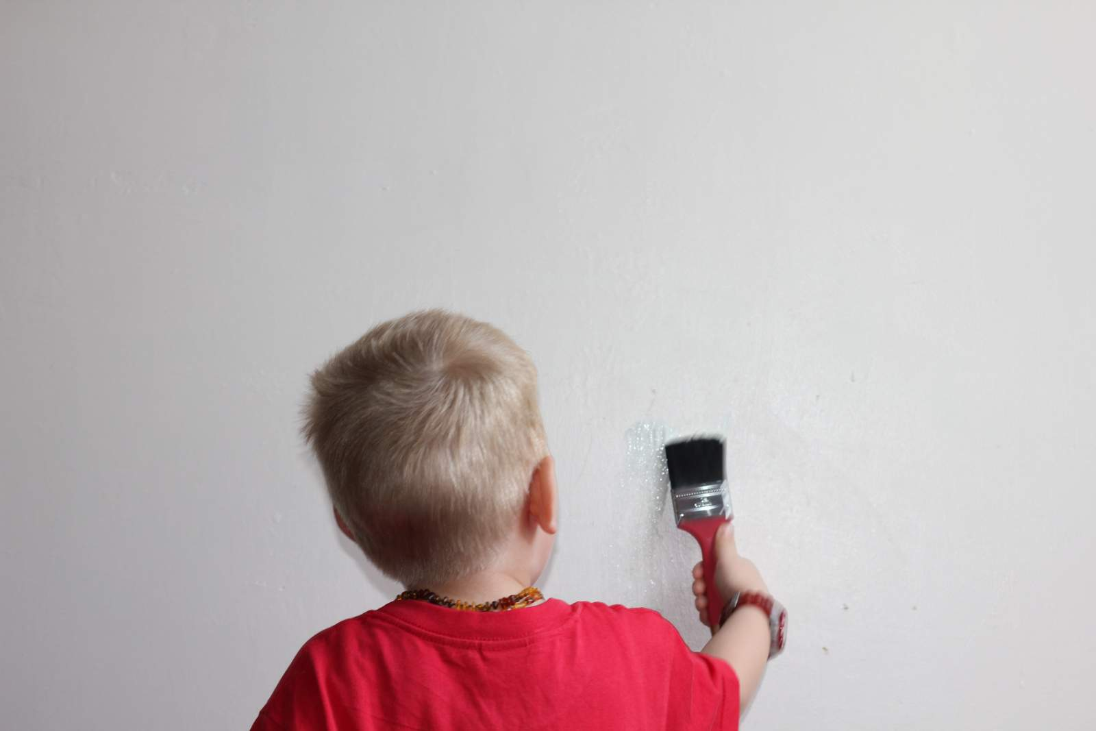 painting toddler