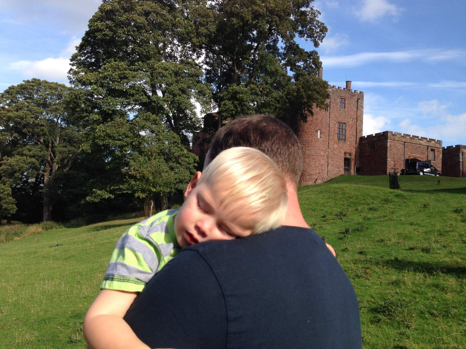 powis castle is an exhausting day out for toddlers!