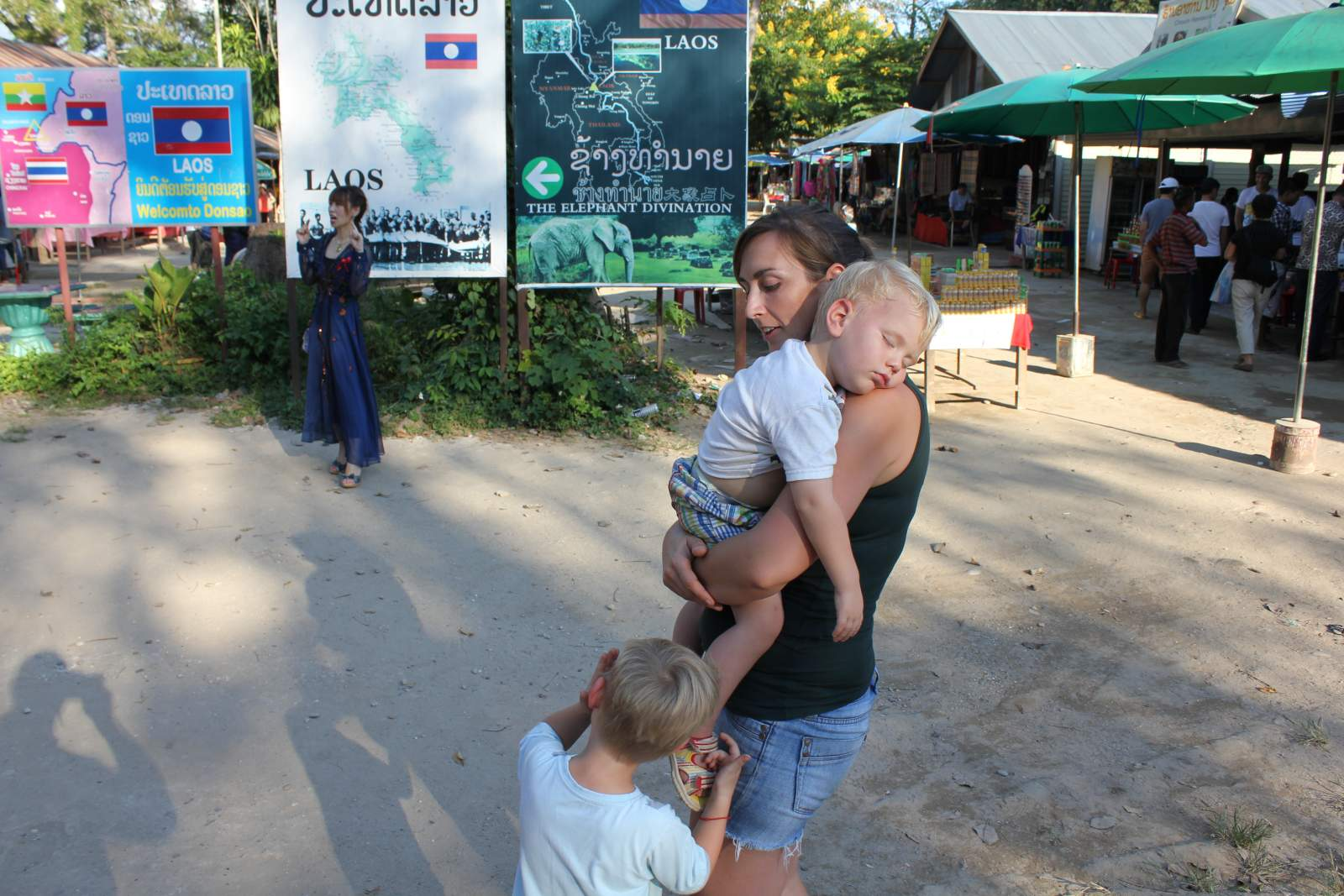 in laos with kids