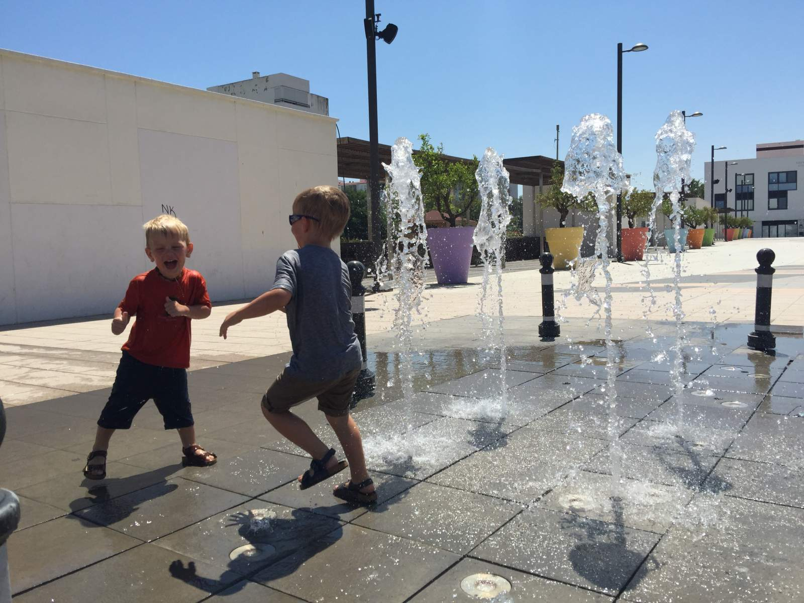 enjoying the fountains in benalmadena spain